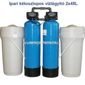 ipari ketoszlopos vizlagyito 2x45L